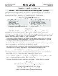 Housekeeping Resume Sample Facile Housekeeper Competent Plus With Medium Image