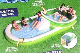 100 Kd Pool Amazoncom H2O Go Bestway Dual Family 12ft Long With Slide