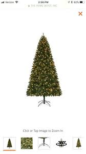 Home Depot Pre Lit Christmas Trees Accents Holiday 9 Ft Led Spruce Quick Set