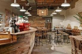Coffee Shop Interior Design Rustic Style
