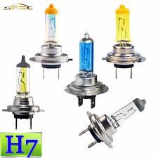 h7 halogen bulb 12v 55w 100w clear white yellow rainbow blue