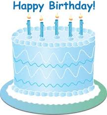 Blue birthday cake clipart 4