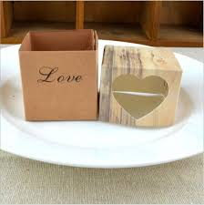 120PCS LOT Love Heart Rustic Wedding Candy Box For Cake And Favor Boxes Romantic Gift Bags Easy Fold In Wrapping