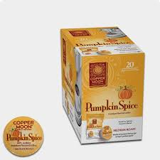 Decaf Pumpkin Spice Latte K Cups by Copper Moon Pumpkin Spice Flavored Coffee Filter Pods K Cup