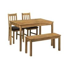 Peaslee Dining Set With 2 Chairs And One Bench