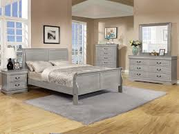 Pc Louis Phillipe Grey Queen Bedroom Set