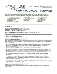 Medical Assistant Resume Example Examples No Experience Template Design Job Summary