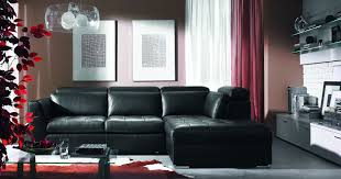 Alessia Leather Sofa Living Room by Living Room Designs With Black Leather Furniture Nakicphotography
