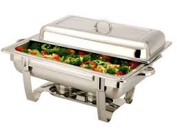 Stainless Steel 11 Liter Single Tray Chafing Dish