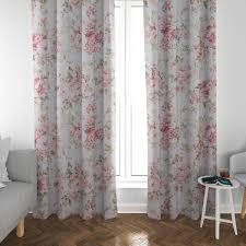 schöner leben vorhang pfingstrosen blüten ornamente creme rosa pink grün 245cm oder wunschlänge