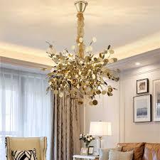 moderne zweig kronleuchter beleuchtung diy nordic design gold edelstahl kette le wohnzimmer esszimmer schlafzimmer led leuchten