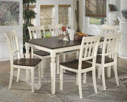 The Whitesburg 7 Pc Reclining Dining Room Table 6 Side Chairs