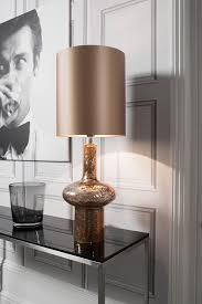 Crate And Barrel Desk Lamp by Verdi Gold Table Lamp Featuring Mould Blown Glass With Volcanic