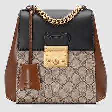 sac à dos padlock en toile suprême gg gucci sacs à dos femme