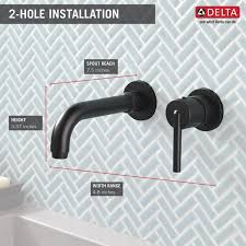 Delta Trinsic Bathroom Faucet Black by T3559lf Blwl Single Handle Wall Mount Lavatory Faucet Trim
