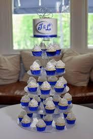 Royal Blue Wedding Cupcakes