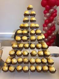 Ferrero Rocher Christmas Tree Stand by Ferrero Roche Tower Wedding Hire Celebrations Party Shop Marlow