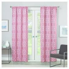 Target Pink Window Curtains by Coral Blackout Curtains Target