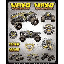 100 Monster Jam Toy Truck Videos DCOR Visuals MAXD Decal Sheet ChapMotocom