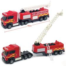 100 Fire Trucks Toys 12 Lights And Sounds DieCast Emergency Rescue