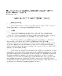 Information Security Incident Response Plan Sample Free Download Template Infosec Policy Samples
