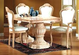 Italian Dining Table Set Furniture Beige Marble Awesome And