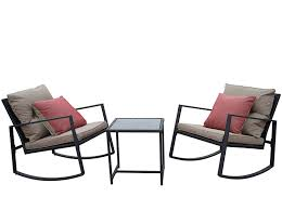 Kozyard Moana Outdoor 3-Piece Rocking Wicker Bistro Set, Two Chairs And One  Glass Coffee Table, Black Wicker Furniture(Taupe Cushion+Red Stripe ... Outdoor Wicker Chairs Table Cosco Malmo 4piece Brown Resin Patio Cversation Set With Blue Cushions Panama Pecan Alinum And 4 Pc Cushion Lounge Ding 59 X 33 In Slat Top Suncrown Fniture Glass 3piece Allweather Thick Durable Washable Covers Porch 3pc Chair End Details About Easy Care Two Natural Sorrento 5 Cast Woven Swivel Bar 48 Round Jeco Inc W00501rg Beachcroft 7 Piece By Signature Design Ashley At Becker World Love Seat And Coffee Belham Living Montauk Rocking