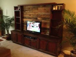 Custom Made Entertainment Center With Pallet Wood