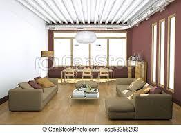 wohnzimmer modern hell sofas wände design
