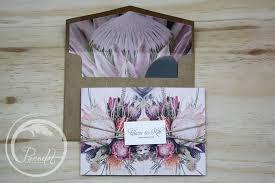 Australian Rustic Wedding Invitations Natives Floral Trifold Invitation