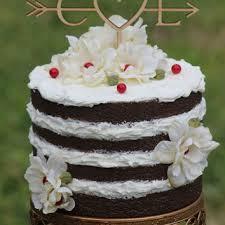 Rustic Initials Arrow Cake Topper
