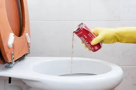 toilette reinigen stark verschmutzte stellen und