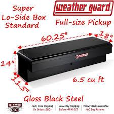 176-5-01 WEATHER GUARD Black Steel Super Lo-Side Mount Box 60