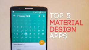 Top 5 Material Design Apps 2015