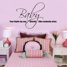 special personalized vinyl wall sticker baby you light up my world