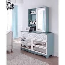 Vanity Mirror Dresser Set by Mirror Dresser Set Most Magnificent Modern Design Blue Stained
