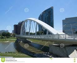 100 Miranova Condos Main St Bridge In Front Of Stock Photo Image Of