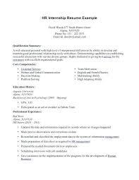 Culinary Internship Resume Examples U2013 Fruityidea
