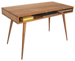 Jeremiah Collection Mid Century Desk With Wood Legs & Reviews