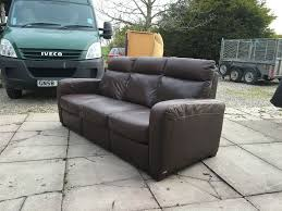 Italsofa Leather Sofa Uk by Brown Leather Italsofa 3 Seater Recliner Delivery Available In