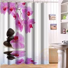 charmhome strong orchidee lager duschvorhang polyester stoff badezimmer bad vorhang