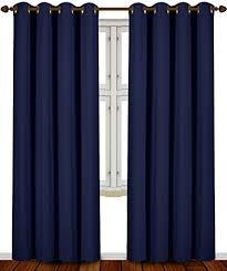 Amazon Prime Kitchen Curtains by Amazon Com Blackout Room Darkening Curtains Window Panel Drapes