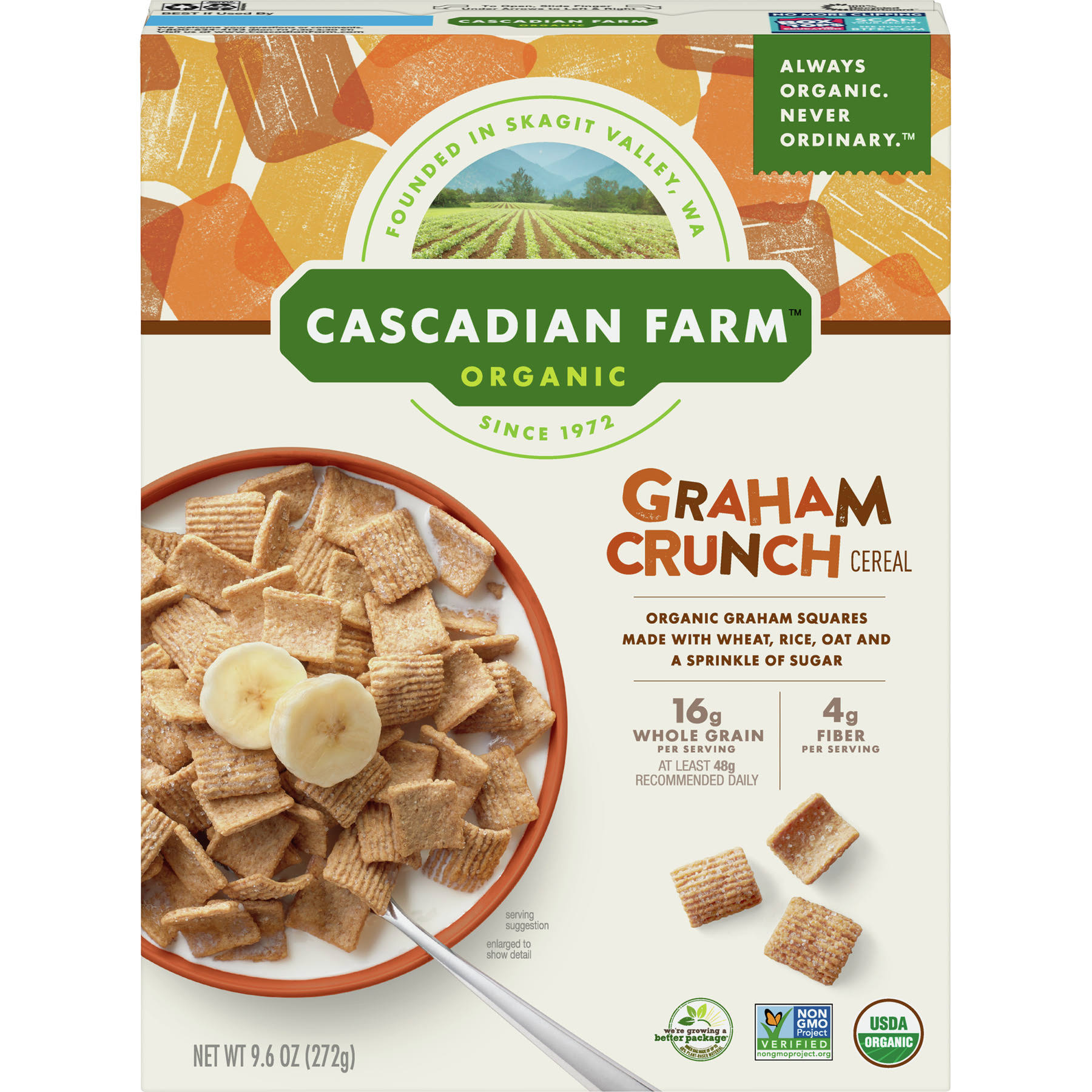 Cascadian Farm Organic Graham Crunch Cereal - 272g
