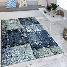rugs wohnzimmer teppich ölgemälde optik indigo blau weiß