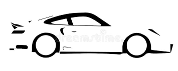 Fast Car Outline stock vector Illustration of vector