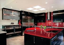 Beautiful Red Black Kitchen Decor