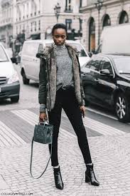 Sweater Tumblr Fashion Week 2017 Streetstyle Grey Turtleneck Jacket Army Green Hooded