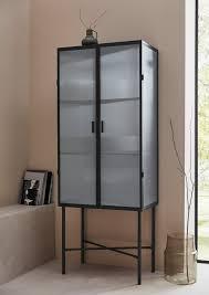vitrine zeitloses design schwarz material metall glas almira leger home by lena gercke