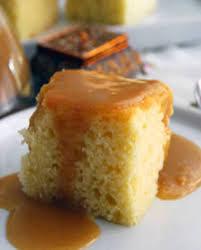 gâteau doré à la vanille sauce à la cassonade pour 12 personnes
