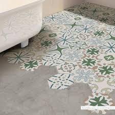 großhandel kunst portugiesischen stil diy bodenfliese vinyl aufkleber mit wasserfesten anti slip twill wand dekoration badezimmer wohnzimmer